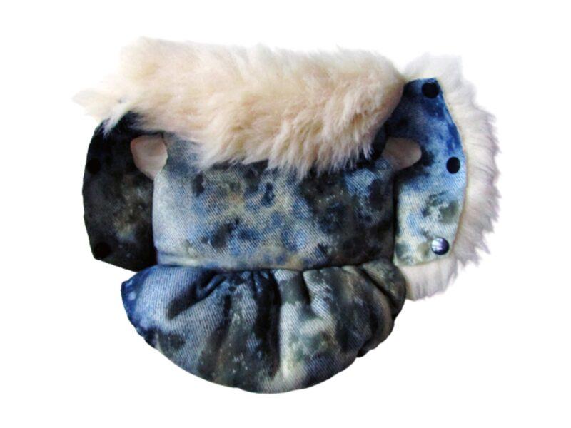 blue leopard fir dog coat