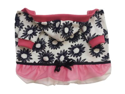 sunflower dog hoodie with pink tulle skirt