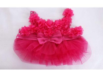 Dog 3D Flower Dress with tutu skirt