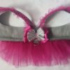 Grey and Pink Harness Tutu Skirt