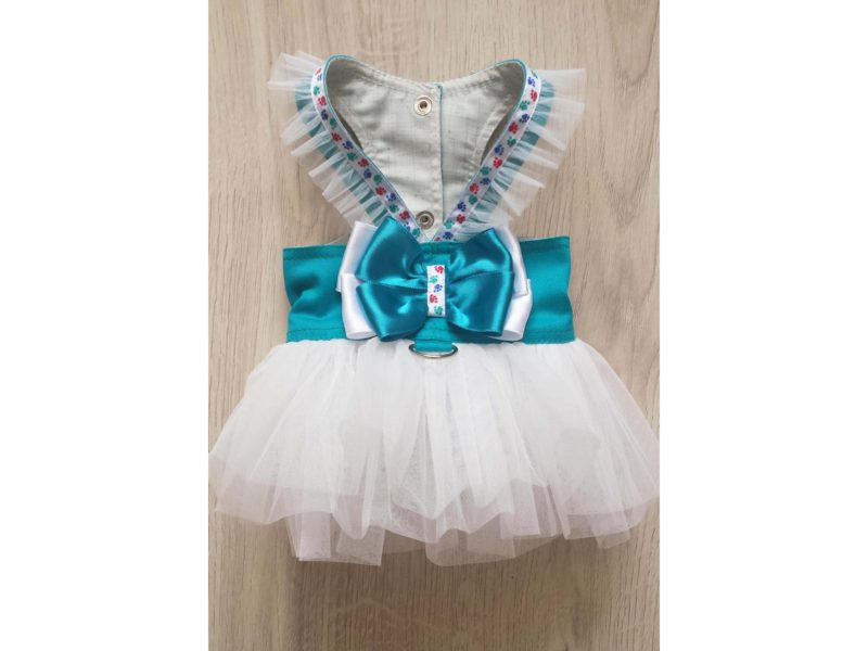 Turquoise Harness White Tutu Skirt