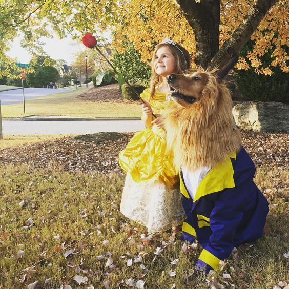 Beauty and The Beast Dog and Kid Halloween Costume