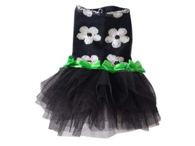black and green tulle god dress